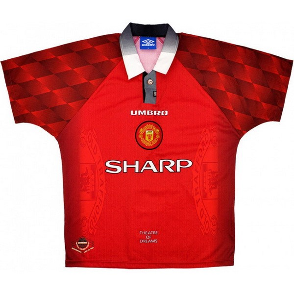 Maillot Foot Manchester United 1ª Retro 1996 1997 Rouge
